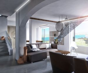 Interior and landscape design of summer residences in Andros, 2018